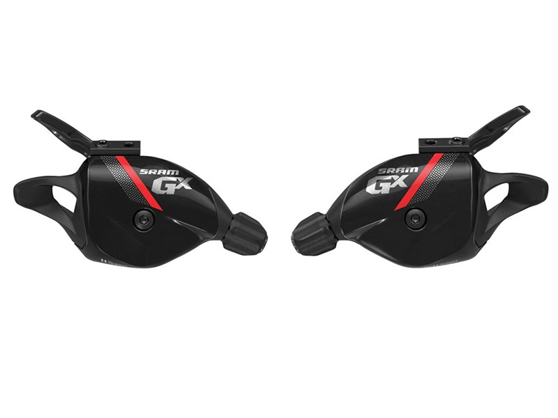 SRAM Trigger shifter set GX Black 2x11 speed Front and rearRed graphics | Gear levers