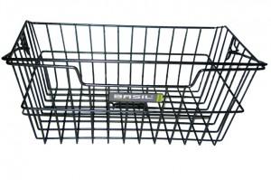 Basil cykelkurv til bagagebærere PVC black, bevelled 11011 | Bike baskets