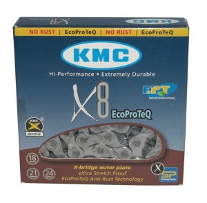 "KMC kæde KMC X-8 EPT anti-rust 1/2"" x 3/32"", 116 links, 7,3mm 8 speed | Chains"