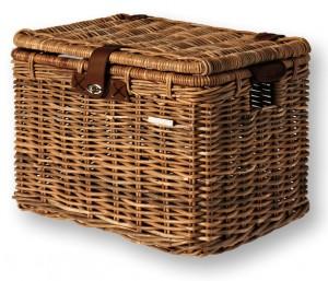 Basil cykelkurv til bagagebærere Denton L 45x32x32 cm brown rattan | Bike baskets