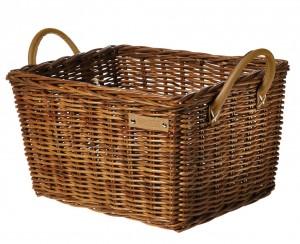 Basil cykelkurv til bagagebærere Portland Classic 46x36x22cm, natural,Rattan,coarse meshed | Bike baskets