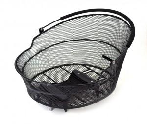 Rear cykelkurv Pletscher Oval black, with 3-point-adapter | Bike baskets