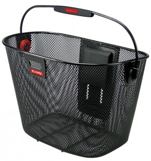 KLICKFIX cykelkurv Unilux black close-meshed | Bike baskets