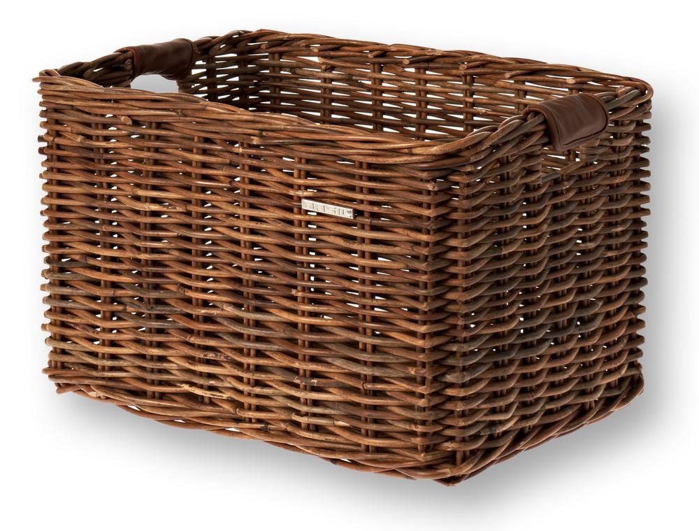 Kurv BASIL DORSET Large Naturbrun Flet 45x34x31cm | Bike baskets