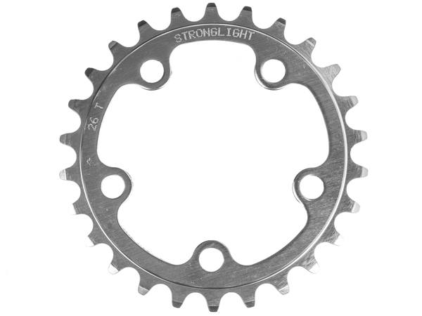Stronglight klinge Road 26T Ø74 mm 9/10 speed Dural3rd pos., Silver, Alu 5083 | chainrings_component