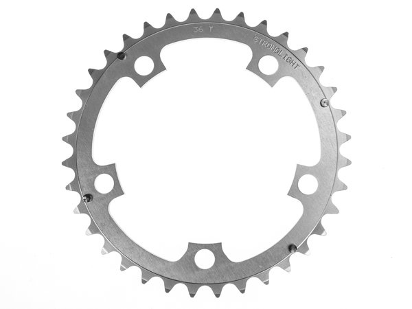 Stronglight klinge Road 36T Ø110 mm 9/10 speed Dural2nd pos., Silver, Alu 5083 | chainrings_component