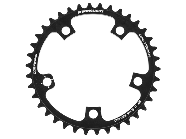 Stronglight klinge Road 38T Ø110 mm 11 speed Zicral2nd pos., Campagnolo, Athena Carbon, Black, Alu 7075 T6 | chainrings_component
