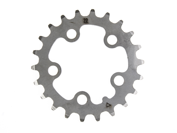 Stronglight klinge MTB 22T Ø58 mm 9 speed Inox3rd pos., Silver, Stainless steel | chainrings_component