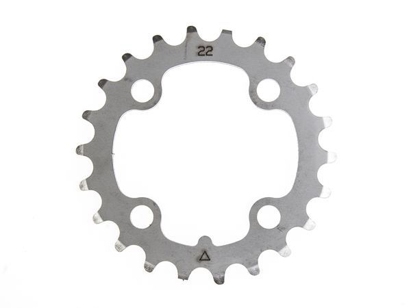 Stronglight klinge MTB 22T Ø64 mm 9 speed Inox3rd pos., Silver, Stainless steel | chainrings_component