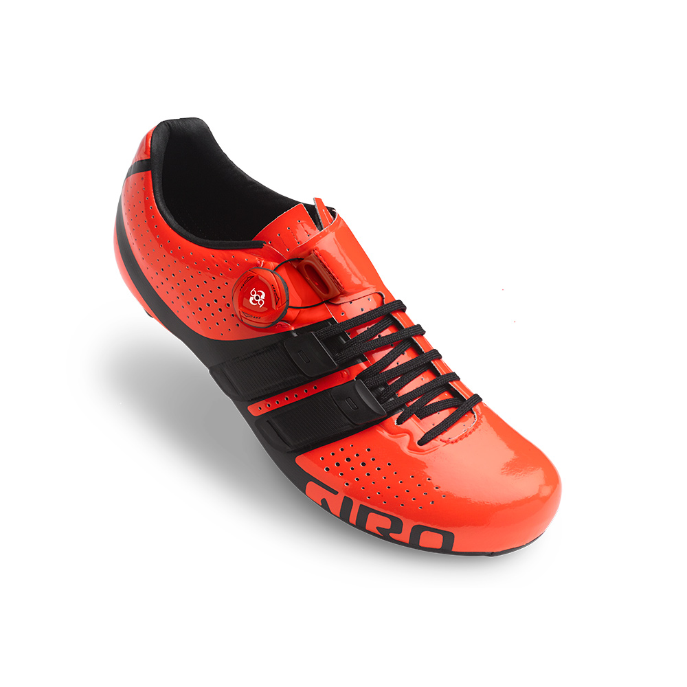 Giro cykelsko Factor Techlace Ve/so 43 Vermillion/Sort VERMILLION 43 | Shoes and overlays