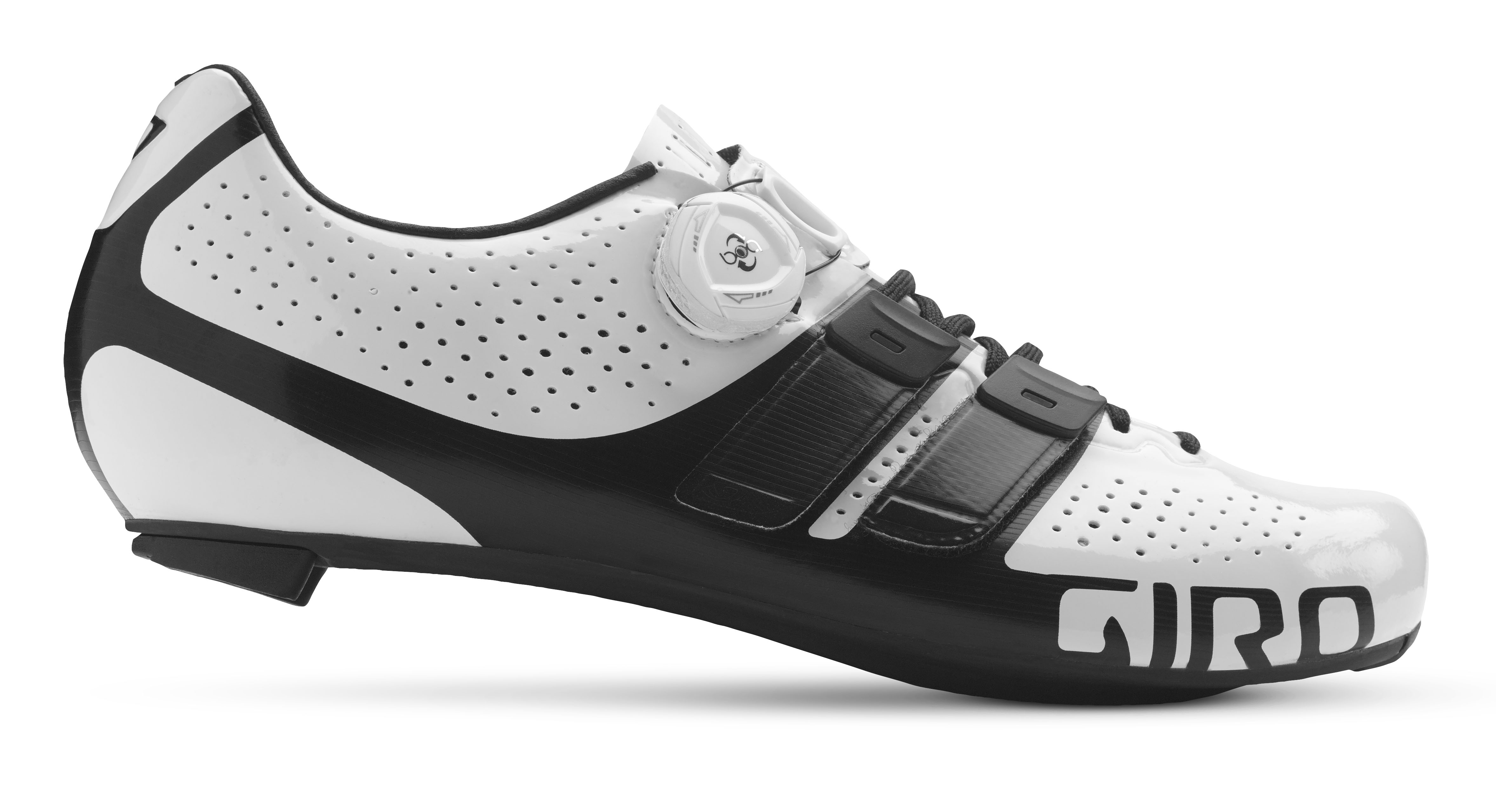 Giro cykelsko Factor Techlace Hv/So 41 Hvid/Sort HVID 41 | Shoes and overlays