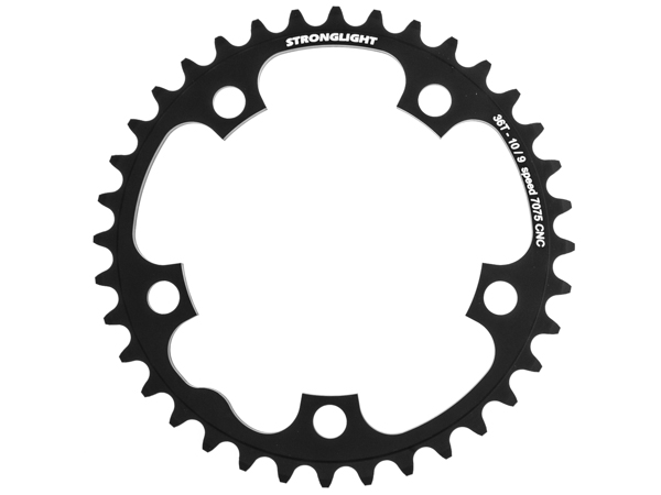 Stronglight klinge Road 36T Ø110 mm 9/10 speed Zicral2nd pos., Black, Alu 7075 T6 | chainrings_component