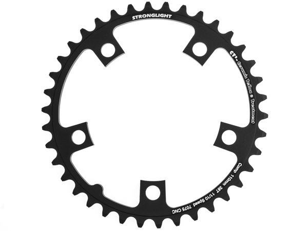 Stronglight klinge Road 38T Ø110 mm 10/11 speed CT2 Zicral2nd pos., Black, CT2 - Alu 7075 T6 | chainrings_component