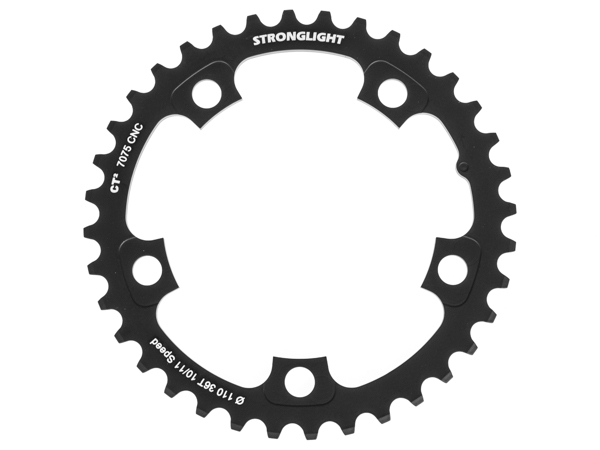 Stronglight klinge Road 36T Ø110 mm 10/11 speed CT2 Zicral2nd pos., Shimano, Ultegra FC-6750/DI2, Black, CT2 - Alu 7075 T6 | chainrings_component