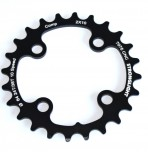 Stronglight klinge MTB 26T Ø64 mm 10 speed CT2 Zicral2nd pos., Shimano, 2x10 XTR FC M980, Black, CT2 - Alu 7075 T6 | chainrings_component
