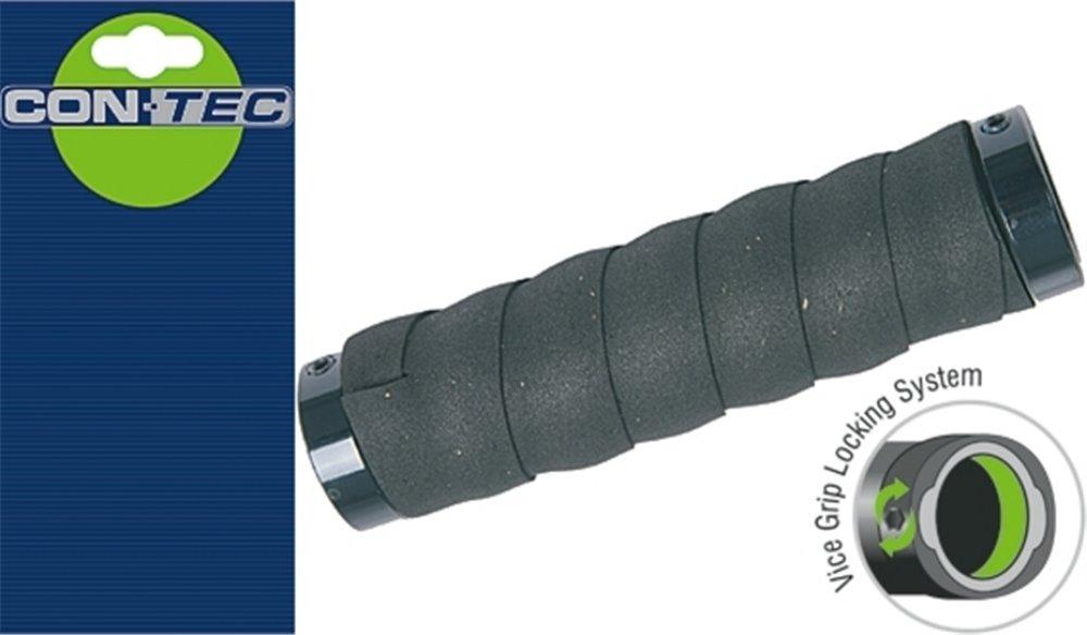 CONTEC greb Twister D2 -Taped, par håndgreb kerne med stødabsorberende D2 Lenkerband, 129 mm, Sort | Handles