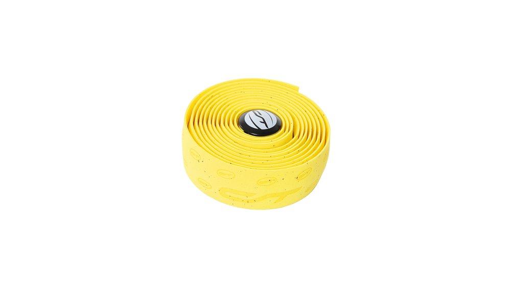 CONTEC styrbånd cork 2K højkvalitets syntetisk kork styrbånd med præget branding, PU coating på undersiden af reduceret tryk, og vibrationer betydeligt, meget elastisk, optimalt greb, vaskbar, inkl. 2 bar stik og klæbestrimler til fiksering   Bar tape