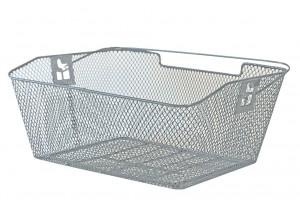Rear cykelkurv PVC 39x30x17cm,silver | Bike baskets