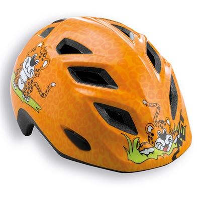 MET Genio/Elfo junior cykelhjelm til hverdag - orange/gepard | Helmets