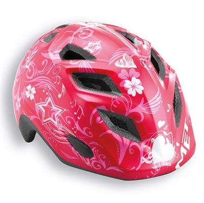 MET Genio/Elfo junior cykelhjelm til hverdag - pink music | Helmets