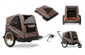 "Croozer Bike trailer Croozer Dog 16"" (E) 2014 grey,side drawbar,1 universal tr. hitch | bike_trailers_component"
