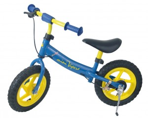 "Mini Viper løbecykel, 12"",alu grip,blue blue/yellow alu frame with safety grips 
