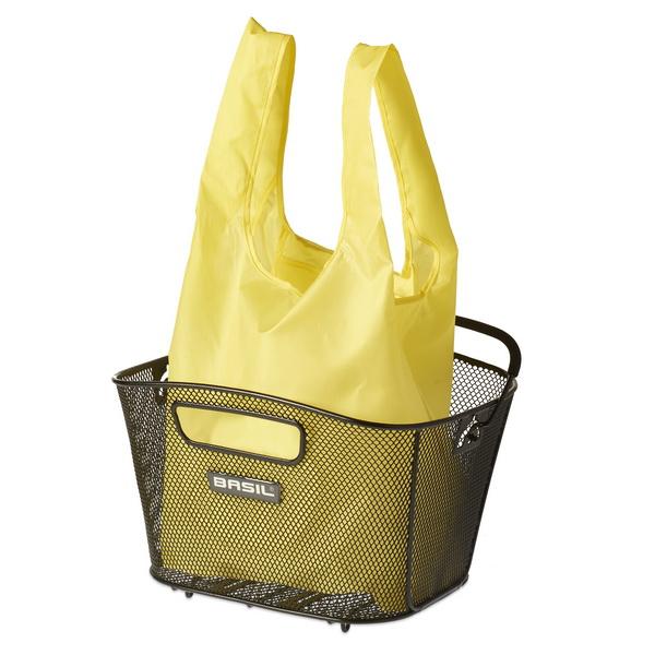 Taske BASIL KEEP SHOPPER Neon Gul For cykelkurv og indkøb | Bike baskets