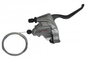 Shimano skiftegreb Alivio ST-T4000 3 Fing 9-gear, R, 2050mm, Tapfire silver | Gear levers
