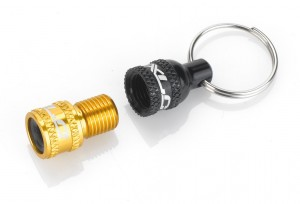 XLC Valve adapter incl. key ring AV on DV/ SV black/gold | Valve