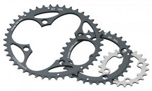 Stronglight klinge MTB 104/64 2x10 inside24 teeth, black, 9/10-gear | chainrings_component