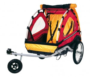 Croozer bike trailer for children Kiddy Van 101 Plus with pushing device | bike_trailers_component