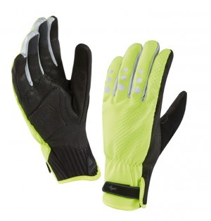 SealSkin cykelhandsker AllWeather Cycle XP BLK/YEL size M (9) | Gloves
