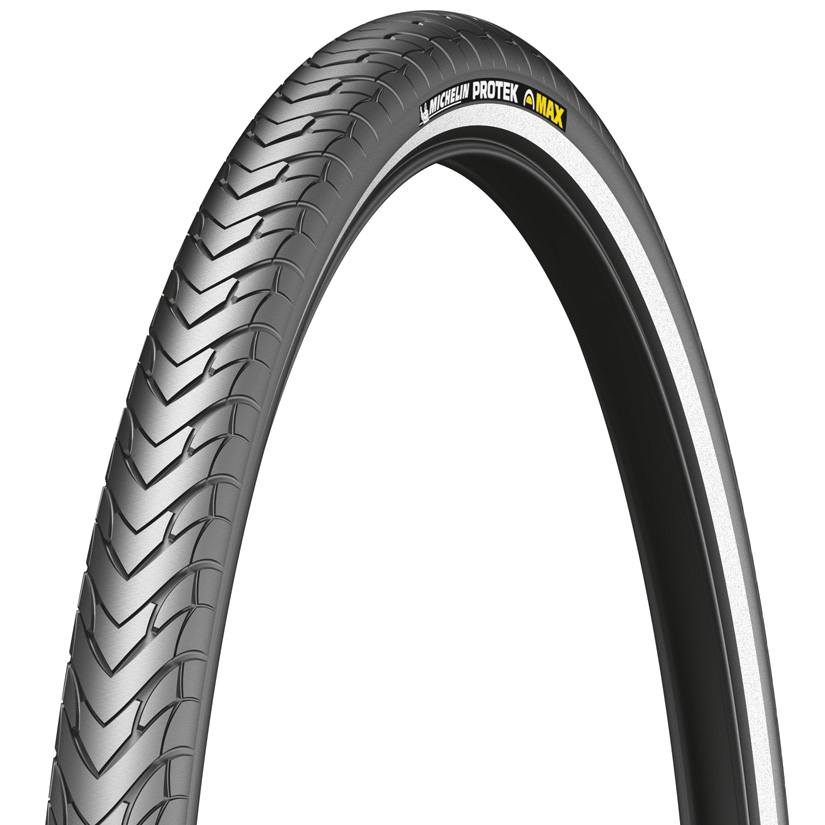 MICHELIN PROTEK Max Standard cykeldæk 700x32C (32-622)5 mm puncture protection, Black, Reflective tape, Weight:740 g | Tyres