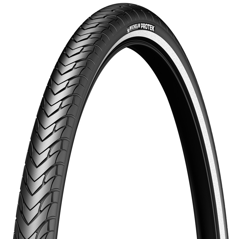 MICHELIN PROTEK Standard cykeldæk 700x38C (40-622)1 mm puncture protection, Black, Reflective tape, Weight:760 g | Tyres