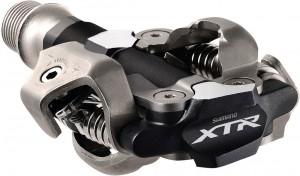 Shimano SPD MTB-Pedal Shimano PD-M 9000 double side, silver/black, w. klamper | Pedal cleats