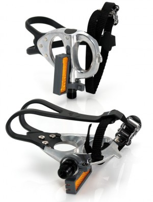 XLC road-pedal with hocks and belt, silver SB-Plus | misc_clothes