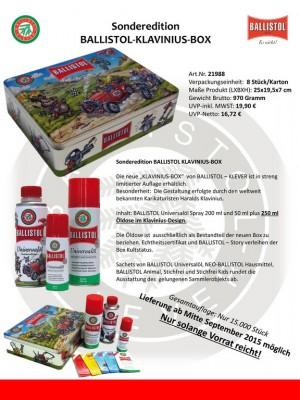 Ballistol Klavinus Box Content Universal oil Spr.250+50ml+250ml | polish_and_lubricant_component