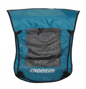 Croozer regn overtræk 2in1 for kids trailerCroozer f.Croozer Kid for 1 Mod.2009 iceblue | shoecovers_clothes