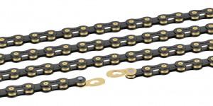 XLC chain CC-C04 1/2 x 11/128, 118 links 11-g. black/gold | Chains