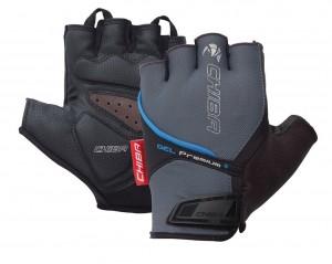 Chiba cykelhandsker Gel Premium short størrelse XS grå/blå | Gloves