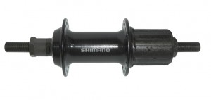 Shimano bagnav FH-TX800 135mm 36 hole, black, 8/9/10-gear, solid axle | Hubs