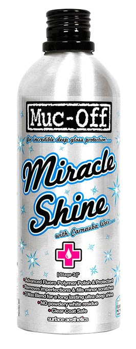 MUC-OFF Miracle Shine 500 ml For polishing, Removes imperfections and fills minor scratches, repels water and atmospheric pollutants, safe on all | polish_and_lubricant_component