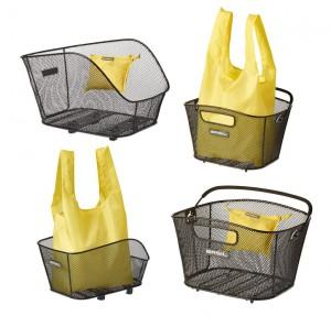 Basil shopping taske til cykelkurv Keep yellow, folding, suitable for Icon/Bold | Bike baskets