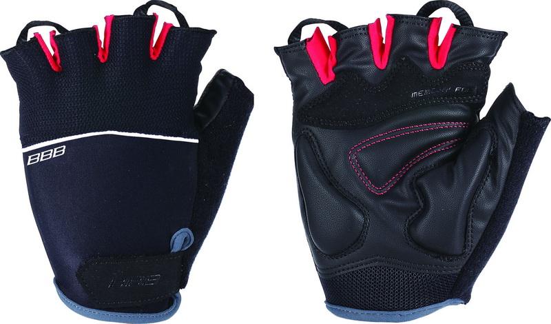 Handske BBB OMNIUM S Sort/rød m.hvid stribe Small BBW-47 | Gloves