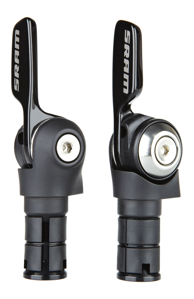 SRAM Shifter set 500 Aero aluminum 2x11 speed Front and rearFriction front | Gear levers