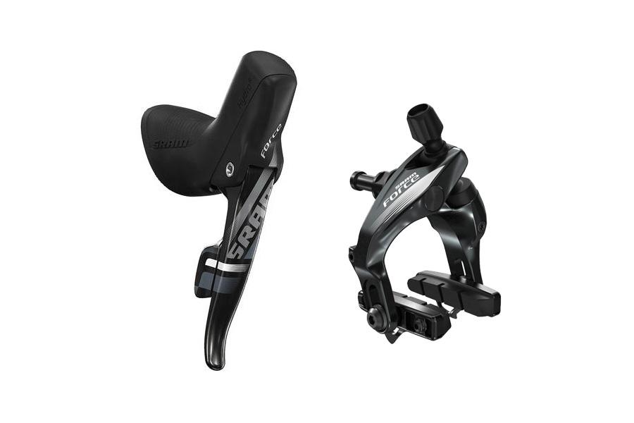 SRAM Shift/Hydraulic rim brake Force 22 11 speed Rear shift/brake1300 mm, Carbon lever, Black, Nut length (Rim brake) 10 mm | Brake calipers