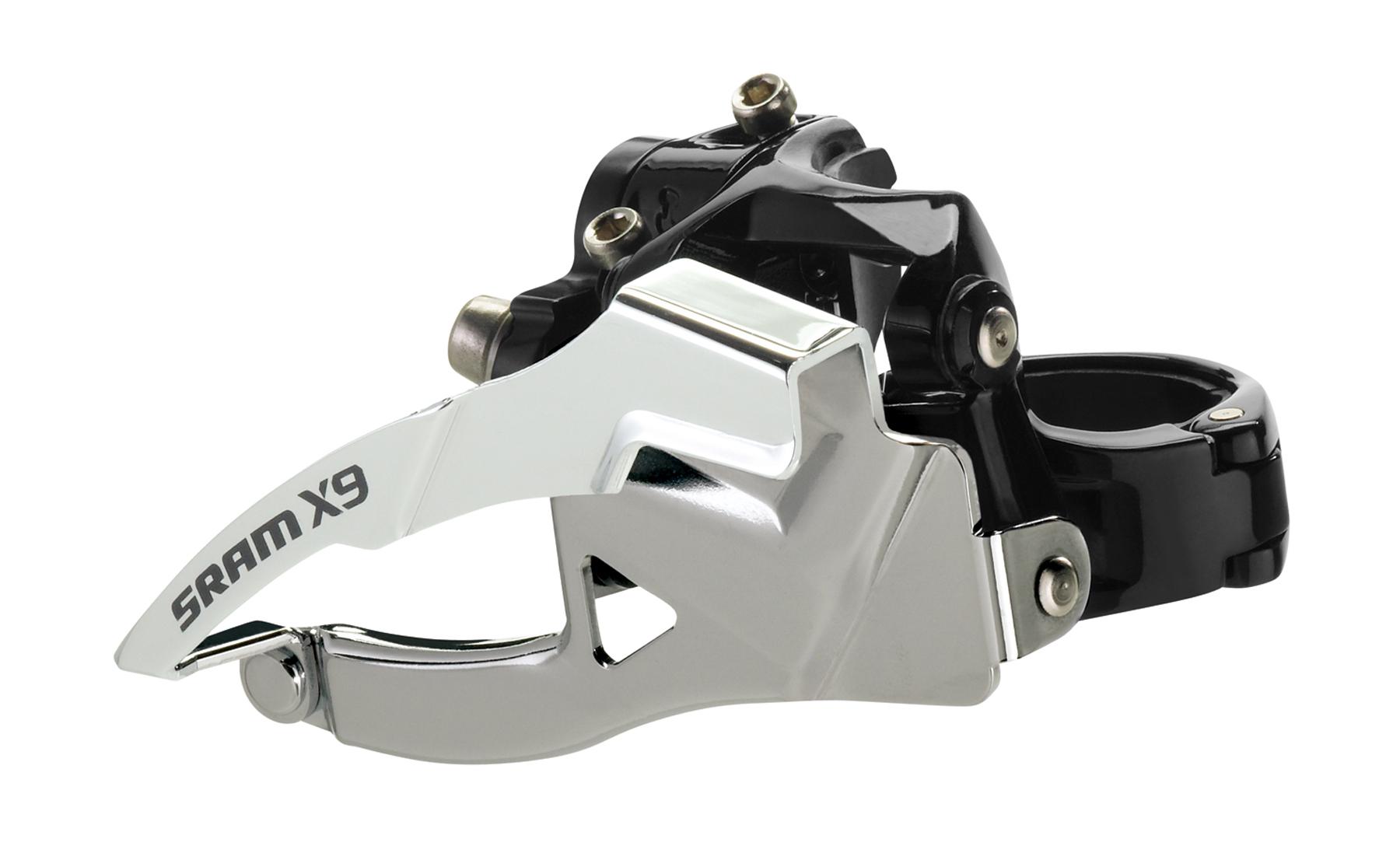 SRAM Front derailleur X9 High clamp Ø38,2 mm 2x10 speed Top pullBlack | Front derailleur