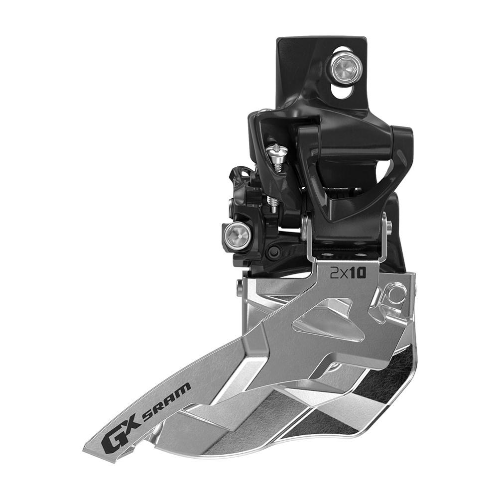 SRAM Front derailleur GX High direct mount 2x10 speed Bottom pullBlack, 38/24T, 36/22T | Front derailleur
