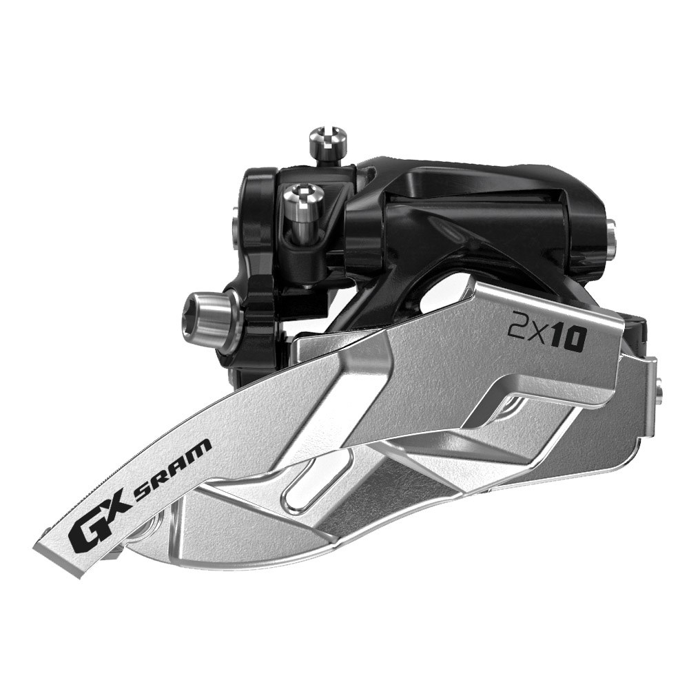 SRAM Front derailleur GX Low clamp Ø31,8/34,9 mm 38/24T, 36/22T 2x10 speed Dual pullBlack | Front derailleur