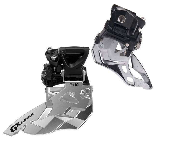 SRAM Front derailleur GX Mid direct mount 34/22T 2x10 speed Top pullBlack | Front derailleur